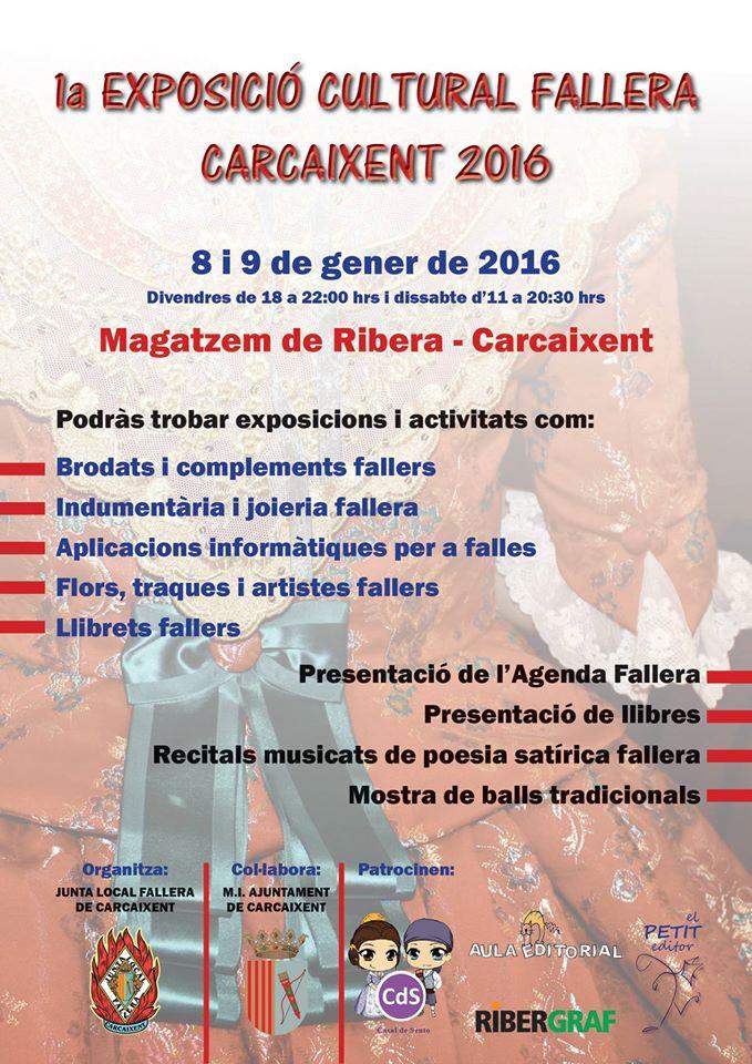 El proper cap de setmana Carcaixent es vestirà de gales falleres per celebrar la Primera Exposició Cultural Fallera a Carcaixent.