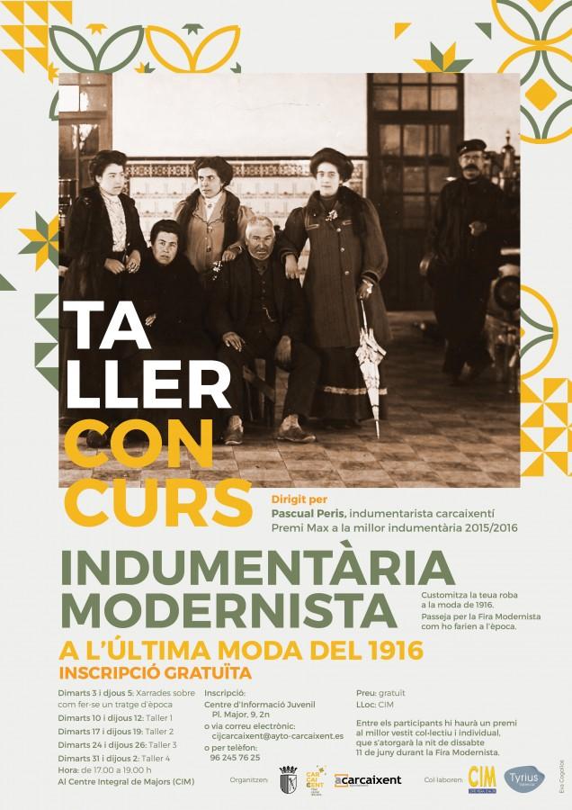 L'Ajuntament de Carcaixent organitza tallers d'indumentària gratuïts per a la Fira Modernista