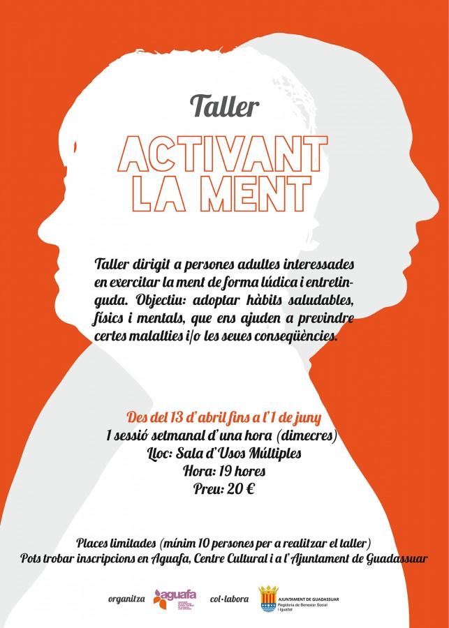 """ES POT PREVINDRE L'ALZHEIMER I ALTRES DEMÈNCIES? TALLERS D'ACCIÓ PREVENTIVA """"ACTIVANT LA MENT"""""""