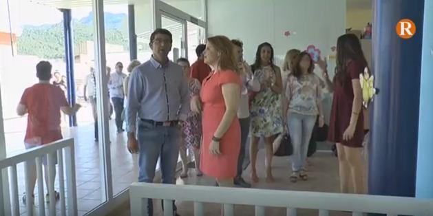 El president de la Diputació visita les obres de millora del col·legi Sant Blai de Llaurí