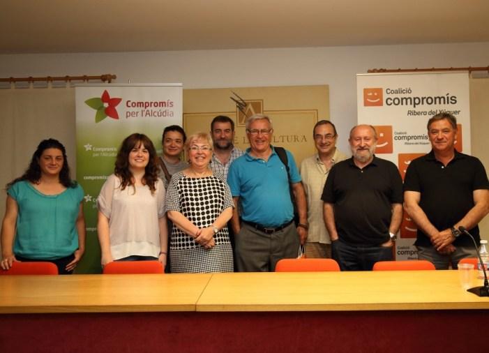Joan Ribó es mostra satisfet a l'Alcúdia de la tasca dels governs del canvi