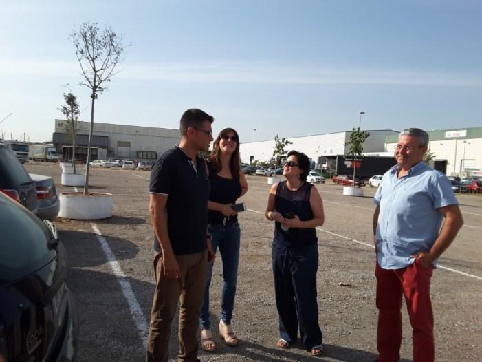 L'Ajuntament d'Almussafes actúa a l'aparcament públic del parc industrial Juan Carlos I