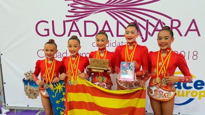 El Club Gimnasia Rítmica Roquette Benifaió logra los títulos de Campeón y Sub Campeón de España