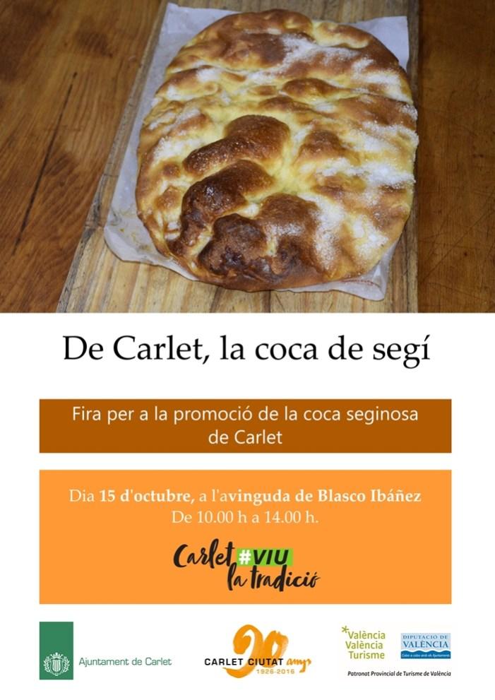 Carlet prepara degustacions gratuïtes de 500 coques de segí carletina en la I fira gastronòmica dedicada a este dolç