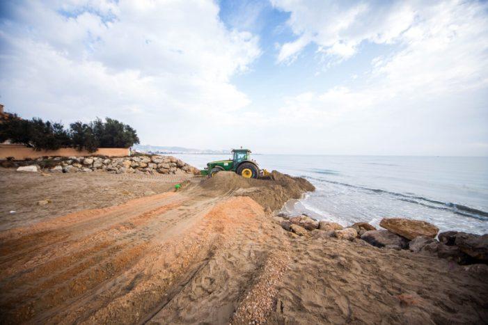Batalla contra l'erosió de la platja del Marenyet