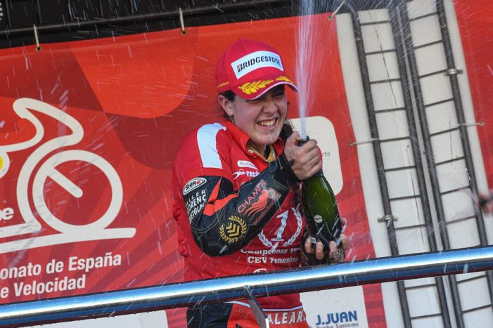 L'equip de motos femení recolzat per la Diputació guanya el Campionat d'Espanya de velocitat en Open 600