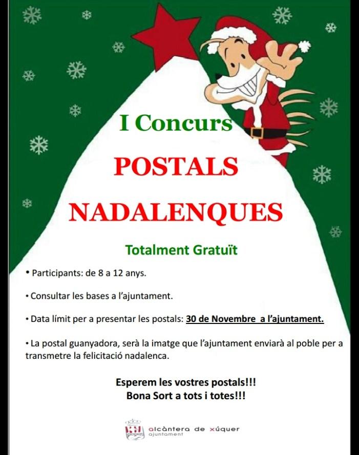 Alcàntera de Xúquer organitza el I Concurs de Postals Nadalenques