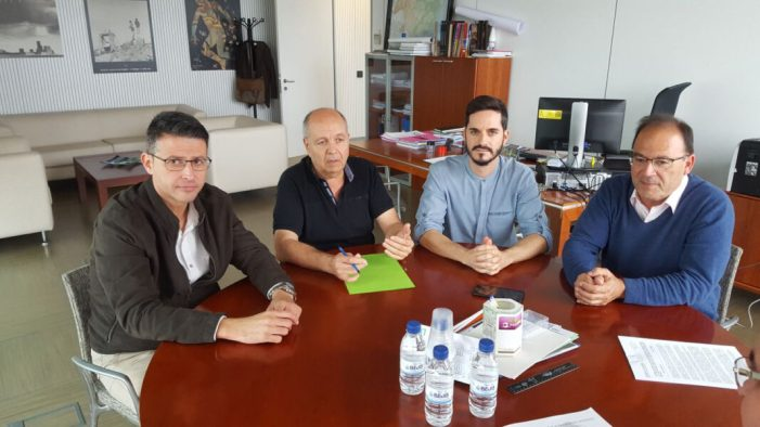 L'alcalde d'Almussafes obté el compromís de la Generalitat Valenciana per a la construcció del col•lector pluvial del carrer Santa Creu