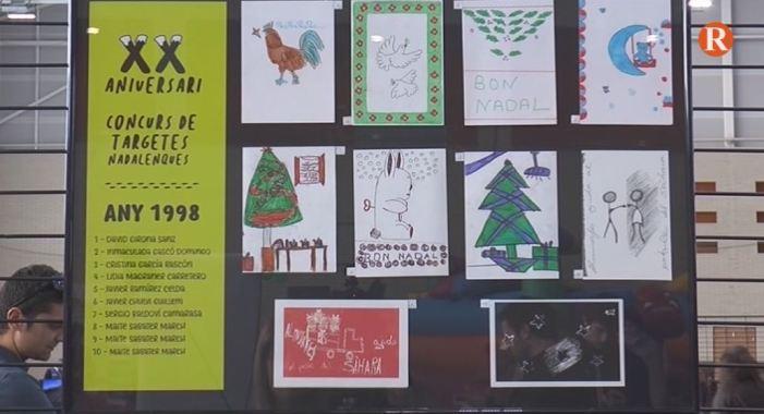 El concurs de targetes de Nadal d'Almussafes ha celebrat el XX aniversari amb una exposició que ha recollit totes les targetes premiades