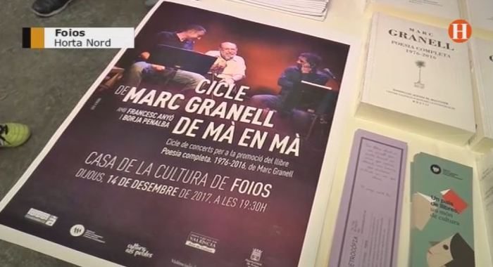L'espectacle musical 'De mà en mà', impulsat per la Diputació de València, apropa als pobles els versos del poeta Marc Granell