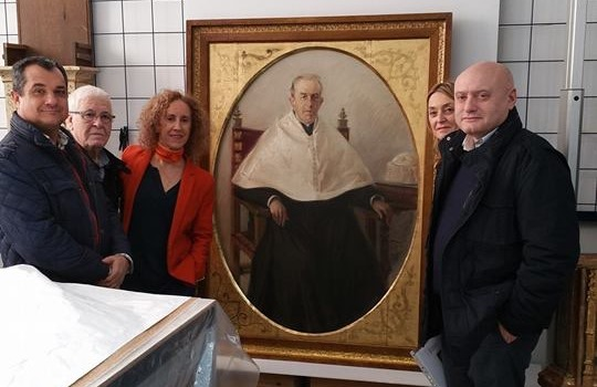 La Generalitat Valenciana restaura el cuadro de Francisco Pons Arnau propiedad de la iglesia de Benimodo