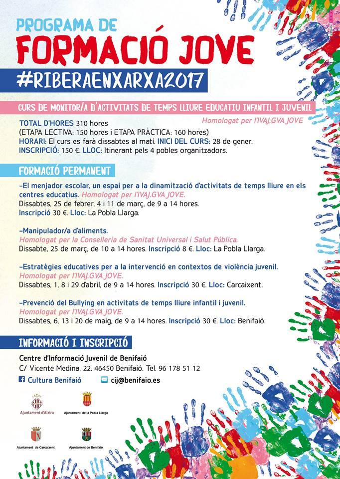 Alzira participa en la formació jove 2018 #RiberaenXarxa