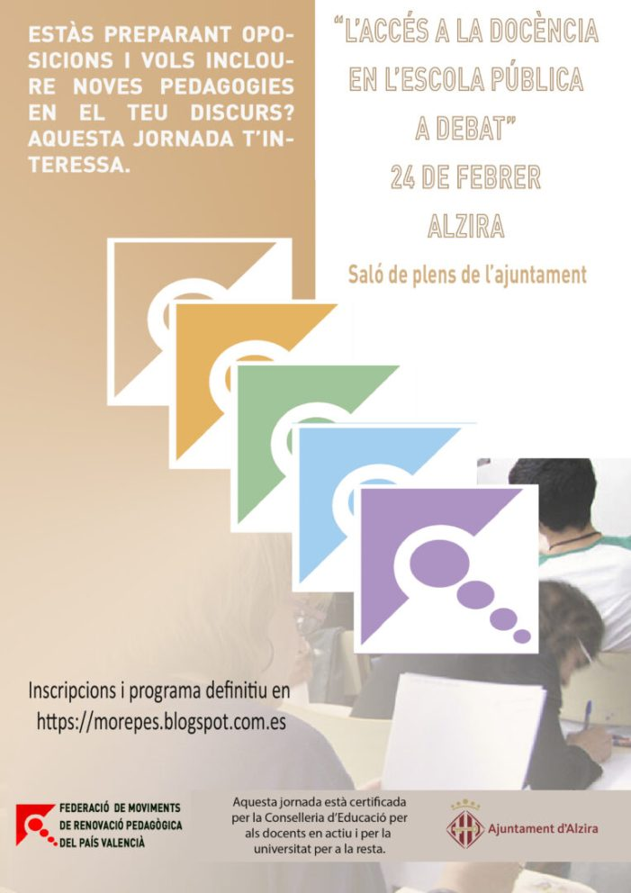 Alzira col•labora en la jornada sobre les oposicions per a docents