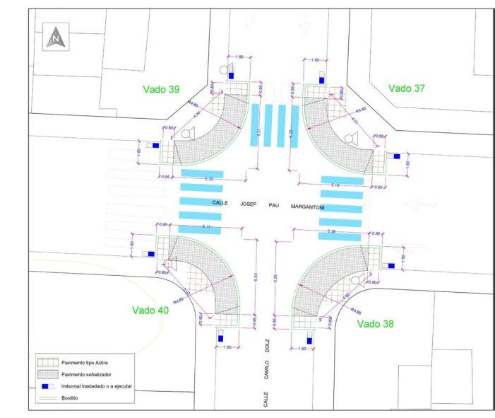 Alzira millora l'accessibilitat dins de la ciutat amb un projecte de rebaix de voreres