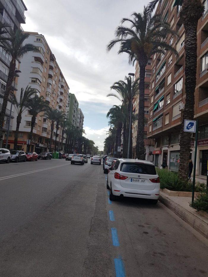 L'Ajuntament d'Alzira reduïx un 50% el nombre de places d'aparcament de la zona blava des de 2015