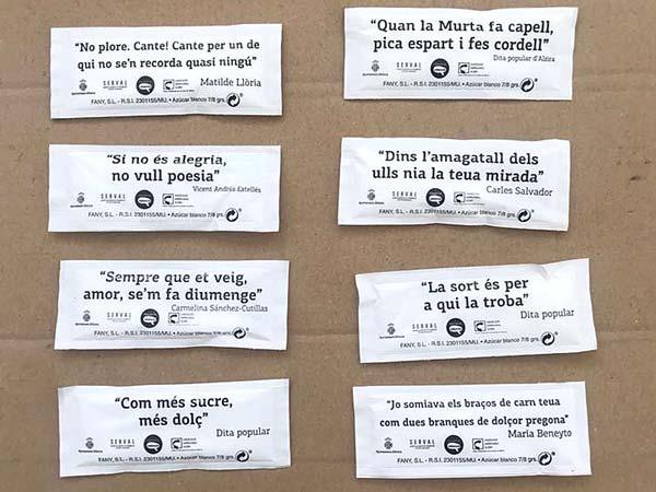 """Ja s'han repartit 350 caixes de bossetes de sucre de la campanya """"Com més sucre més dolç"""