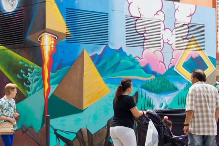 Primeres petjades del Festival d' Art Urbà Cromàpica 2018