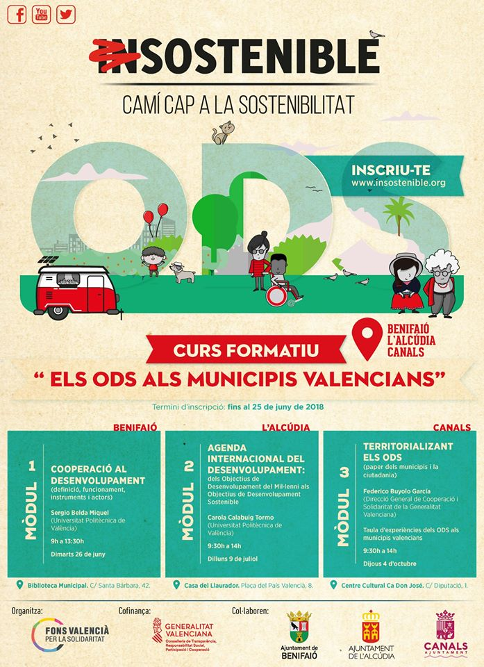 """Benifaió acollirà la primera jornada formativa del programa """"Camine cap a la sostenibilitat"""""""