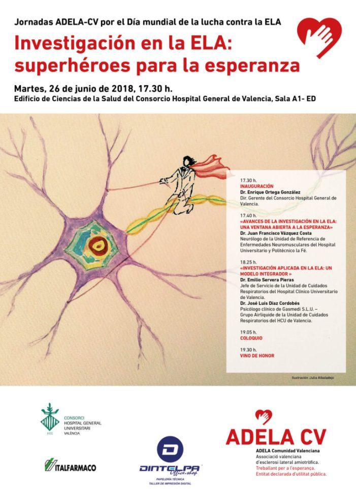L'Associació valenciana d'esclerosi lateral amiotrófica celebra les seues XXIV Jornades pel Dia Mundial de la lluita contra l'ELA