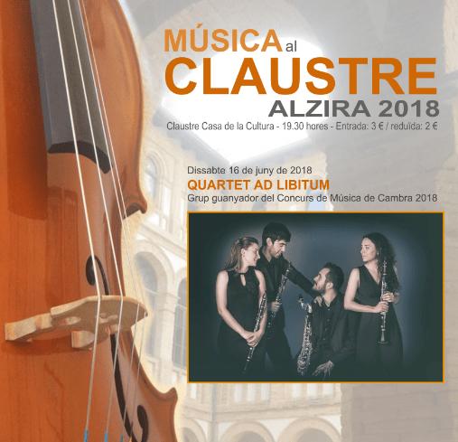 Esta setmana el Quartet Ad Libitum és el protagonista de la Música al Claustre