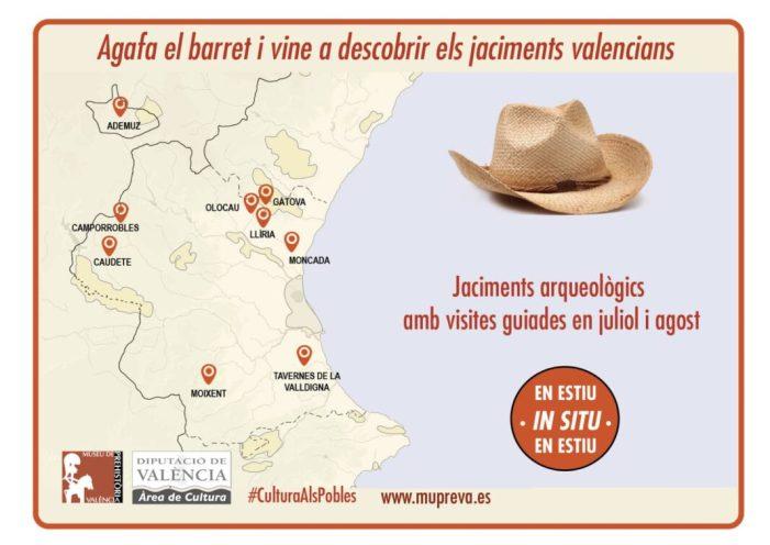 Diputació i ajuntaments promouen visites guiades per tal de mostrar el patrimoni arqueològic valencià