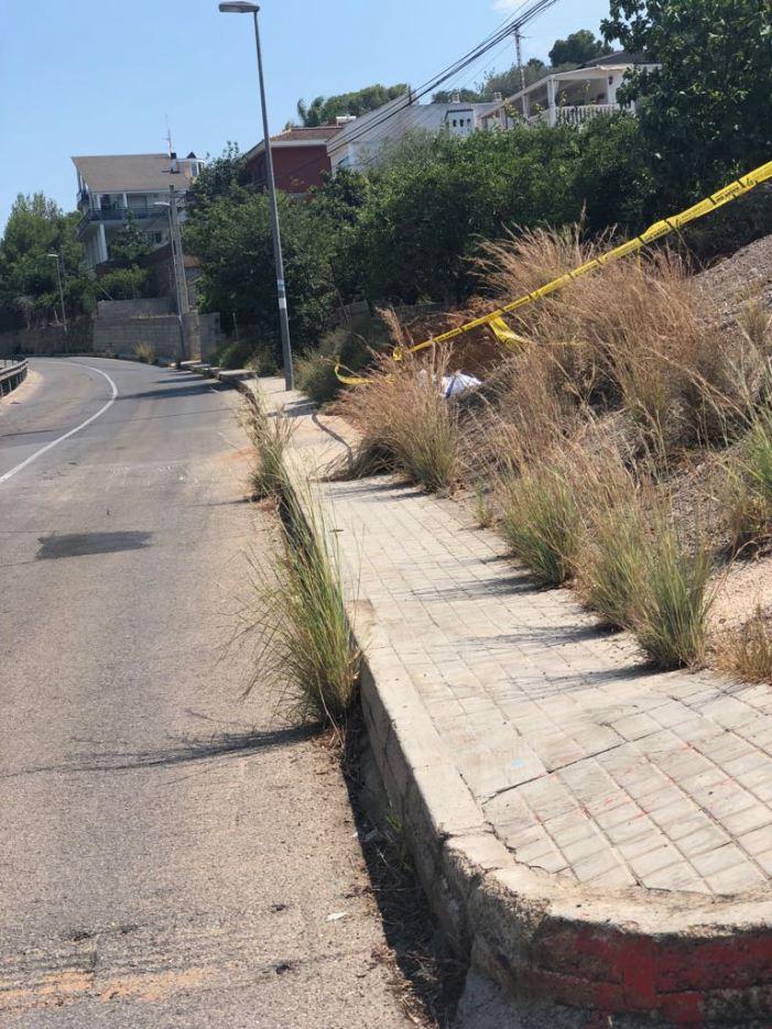 El PP d'Alzira denuncia el lamentable estat dels accessos a la urbanització del *Respirall
