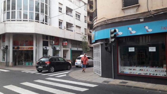 Cs de Alzira alerta del perill que suposa el mal funcionament dels semàfors de Pérez Galdós