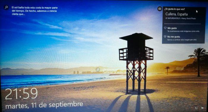Windows tria una platja de Cullera com a imatge per als seus fons de pantalla
