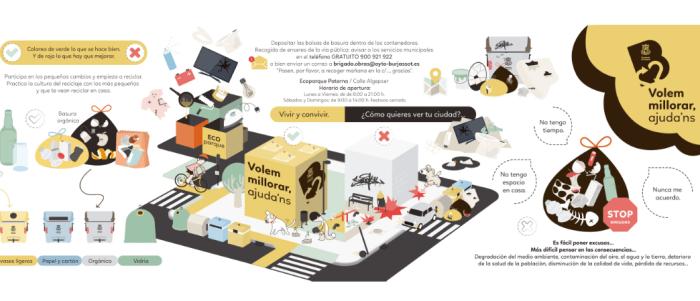 """La campanya """"Queremos mejorar, ayúdanos"""" dóna un pas mes per a mantenir neta Burjassot"""