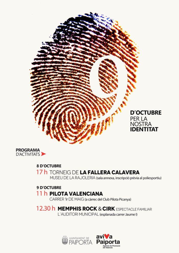 Pilota valenciana, jocs, música i circ per al 9 d'Octubre a Paiporta