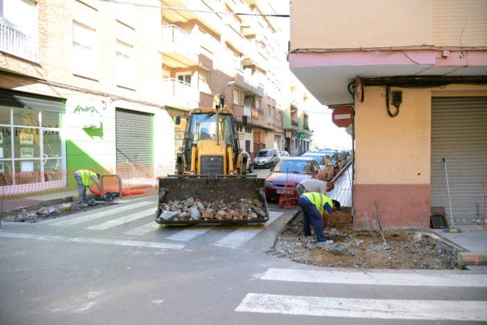 Paiporta inicia un pla de millora de l'accessibilitat urbana amb 33 intervencions en 18 carrers