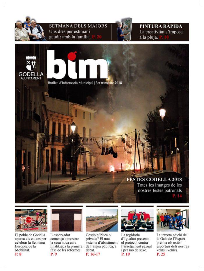El BIM d'octubre, amb un monogràfic sobre la gestió de l'aigua, ja està als carrers de Godella