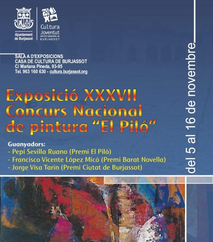 Burjassot: La Casa de Cultura acull l'exposició del XXXVII Concurs Nacional de Pintura El Piló