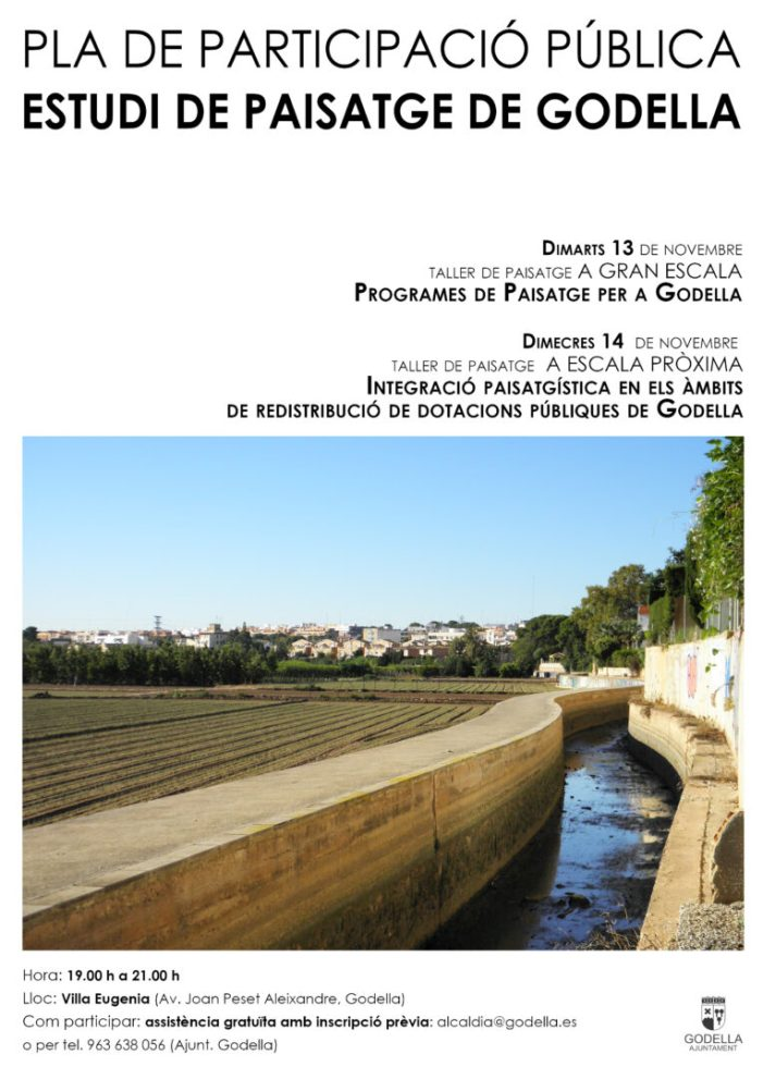 L'Ajuntament de Godella posa en marxa un pla de participació pública per a la redacció de l'Estudi de Paisatge
