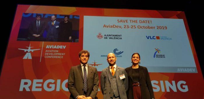 Colomer ressalta la importància de la celebració del fòrum 'AviaDev Europe' a València, 'on es donen cita les principals aerolínies i aeroports del món'