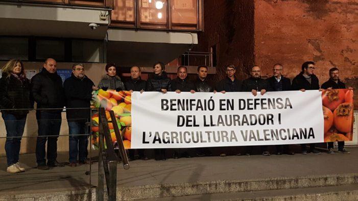 Manifestació a Benifaió en defensa del llaurador i l'agricultura valenciana