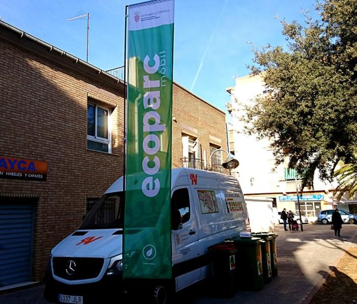 El servei municipal de l'Ecoparc Mòbil a Xirivella presenta novetats