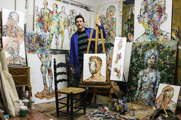 Jordi Machí pintarà un mural en directe en Fitur sobre la Festa d'Algemesí i la resta de patrimonis de la humanitat valencians