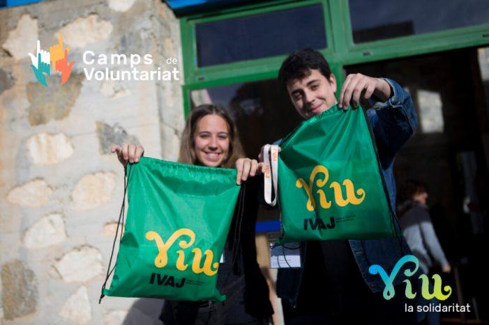El IVAJ lanza la campaña 'Viu la Solidaritat' de campos de voluntariado juvenil 2019