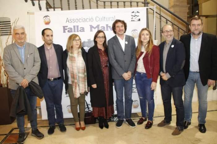 La vicepresidenta Maria Josep Amigó participa en la presentació del llibret de la Falla Plaça la Malva d'Alzira
