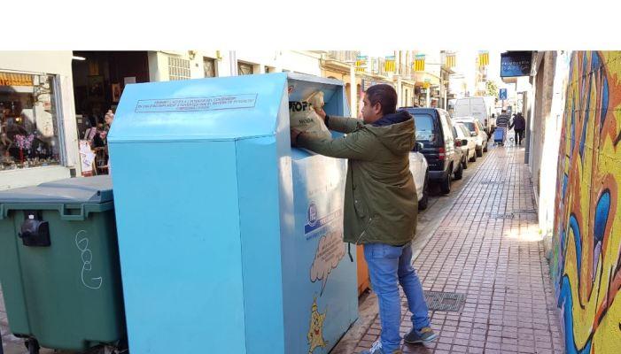 Benetússer bat un nou rècord de reciclatge de roba i calçat