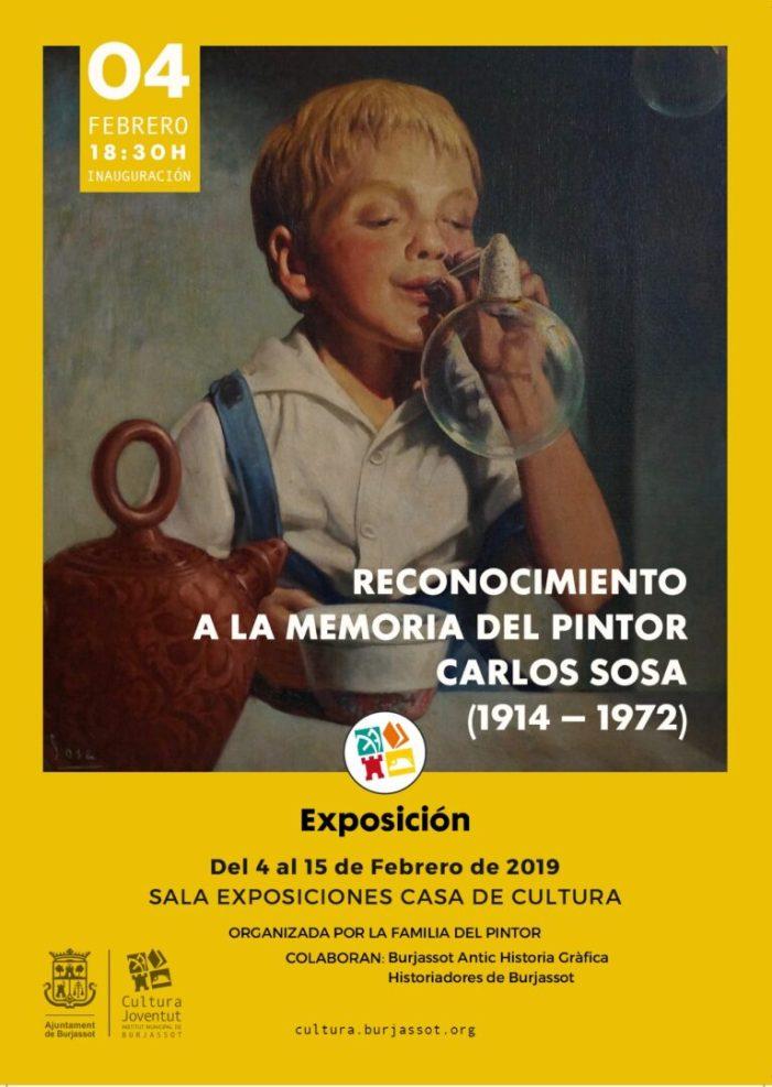 Burjassot: La Casa de Cultura inaugura una exposició en memòria del pintor Carlos Sosa