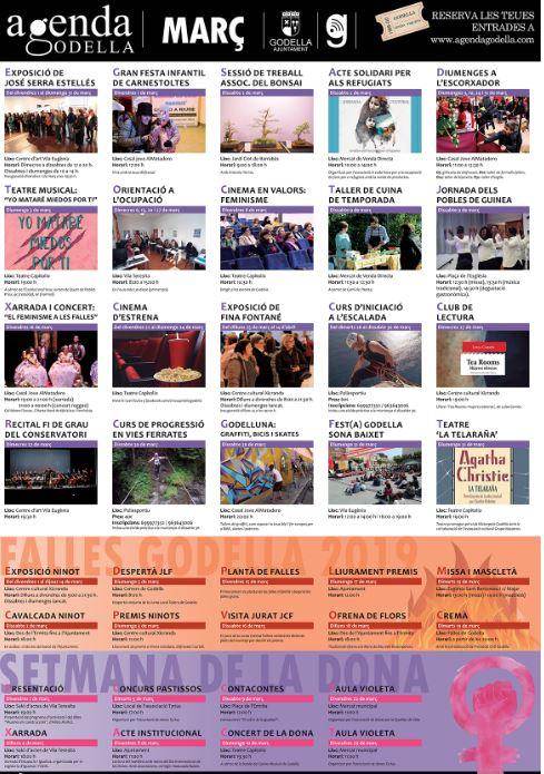 Les Falles i la Setmana de la Dona protagonitzen una agenda de març carregada de novetats
