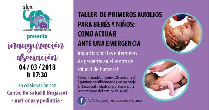 El Centre de Salut II de Burjassot acull un taller de primers auxilis per a bebés i xiquets