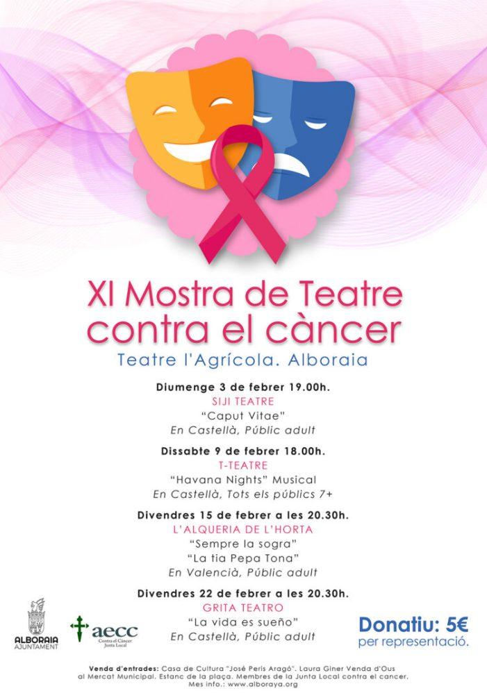 Alboraia celebra la 'XI Mostra de Teatre contra el càncer'