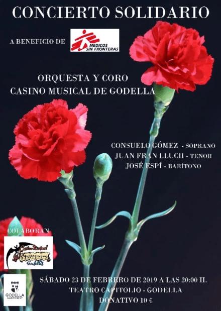 El dissabte 23, concert solidari del Casino Musical a favor de Médicos Sin Fronteras