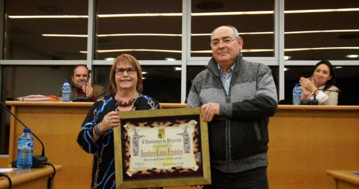 Entregada l'orla de jubilació al treballador Aureliano Calero Fernández de Picassent
