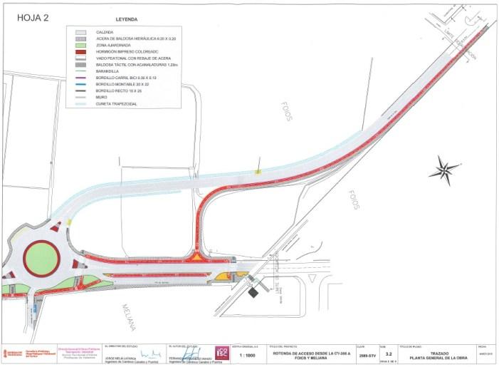 Obres Públiques ja ha aprovat el projecte de la nova rotonda d'accés a Meliana i Foios