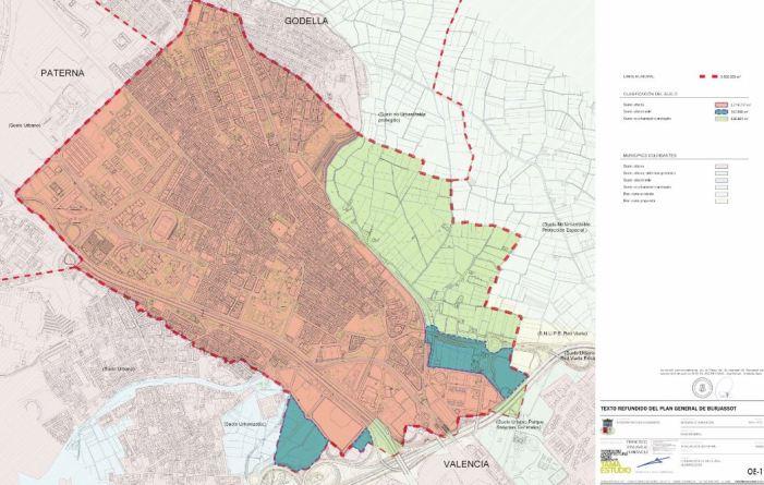 Aprovat el nou Pla General de Burjassot, amb major protecció de l'horta, menor densitat de població i millora de serveis