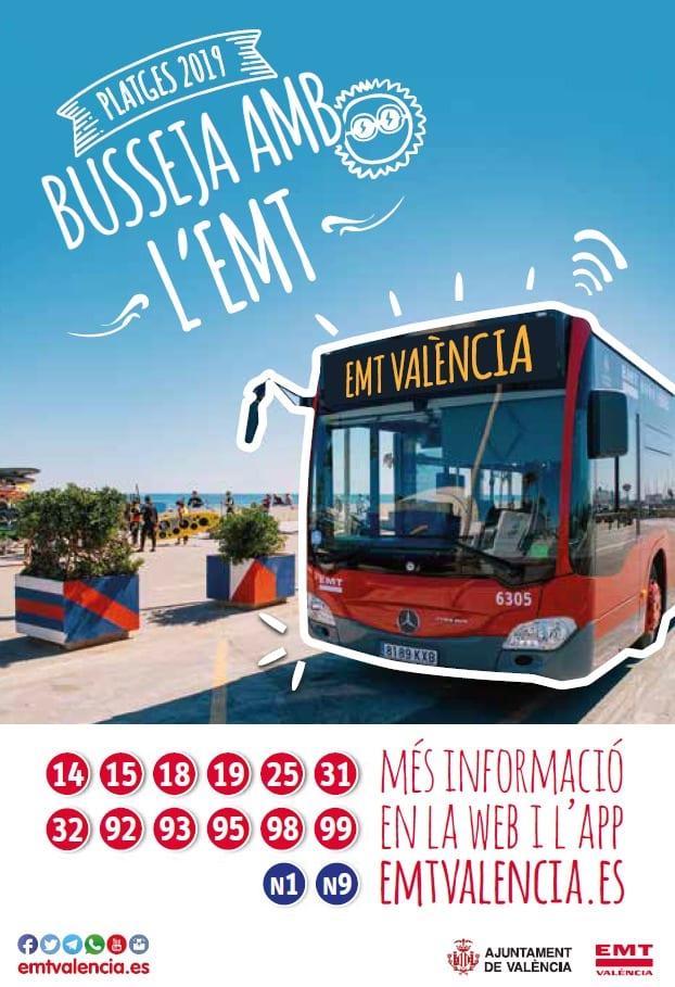 El dissabte comença el dispositiu d'estiu de l'EMT amb prolongació d'itineraris
